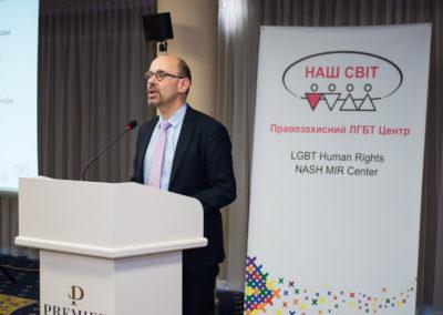 Конференція Виклик без відповіді - злочини ненависті проти ЛГБТ в Україні - Піт Де Бруйн